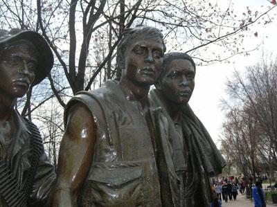 Part of The Three Servicemen Statue